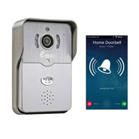 audio doorbell intercom - EBELL Brand DBV01P HD WiFi Video Doorbell Camera Full Duplex Audio Intercom Support Android and iOS Mobile Unlock Door Silver Grey Color