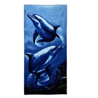 beach chair prints - Microfiber Towels for Beach Bath Swim Blue Dolphins Printed Beach Chair Cover Gym Shower Yoga Towel