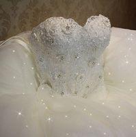 Wholesale 2016 High Quality Elegant Luxury White Lace Wedding Dress Vestido Vintage Brandage Plus Size Ball Gowns