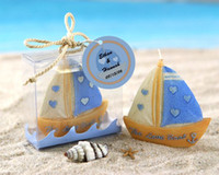Wholesale Europe and the United States wedding wedding wedding The wedding gift Marry reply blue sailboat candles for the real thing