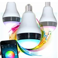 best bluetooth mobile phone - Best Mini Bluetooth Speakers LED Bulbs Plastic Mono RGB White Lights Wireless Creative Portables Speakers Control by Mobile Phones