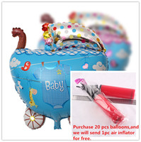 aluminum baby stroller - Foil Balloons Party Decorations x50cm Baby Infant Carriage Strollers Balloons Birthday Party Supplies Baby Shower Aluminum Film Balloons