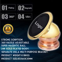 Wholesale 24K Gold Plating Mobilephone Bracket with Logo Mount Ball Sticky Magnetic Mobile Stand Holder