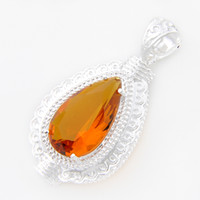 antique citrine jewelry - Half Dozen Dazzling Fire Brazil Citrine Gem Antique Sterling Silver Pendants Necklace USA Israel Wedding Engagement Weddings Jewelry
