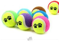Wholesale ZW zw Hot Dog Toy Candy color tennis shape ball for dog chews toys High quality Pet toys