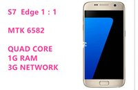 Wholesale Goophone S7 Edge Mobile inch phones MTK6580 Quad core Cell phone Android Smartphones