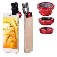Wholesale 2016 new Mobile Phone Fisheye Lenses in Wide Angle Macro Fish Eye Lenses For iPhone S S Plus universal phone