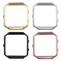 Wholesale Luxury Colors Polished Stainless Steel Metal Frame Holder Shell For Fitbit Blaze Smart Watch DHL