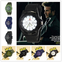 analog digital classic - 2016 New Military Outdoor Sports Quartz Watches Classic Army Canvas Band Mens Watches Colors Fashion Designer Watch