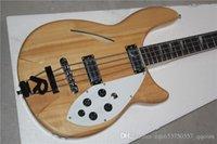 bass inlay - RIC Custom Semi Hollow Body Natrual Fire Glo Strings Electric Bass Chrome Hardware White Pearloid Triangle Fingerboard Inlay