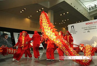 dragon dance - thefancycostume size children folk red golden shining dragon longer brand dragon dance mascot costume china special culture holiday party