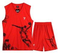 Wholesale children s Basketball Jersey training game jerseys Customized name number adult Mens Basketball vests runnning sport wear set