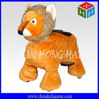 Wholesale 2016 Popular China kids rider Ce certificate chargeable plush walking animal ride indoor ride on animal car