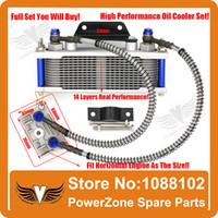 atv heat shield - Dirt Monkey Pit Bike ATV Motorcycle Oil Cooler Radiator Cooling Parts Pit Pro IRBIS CRF KAYO to cc cc