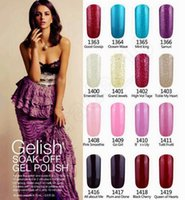 Wholesale LJJG157 Total Colors ml Brand New Removable Gelish Nail Polish Soak Off UV Nail Gel Polish