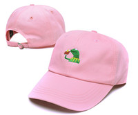 Wholesale hot sale Kermit Tea Hat The Frog Sipping Drinking Tea Baseball Dad Visor Cap Emoji New Popular Panel polos caps hats for men women bone