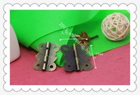 antique butterfly hinges - 50pcs Furniture accessories mm mm small antique wooden box butterfly degrees flat hinge