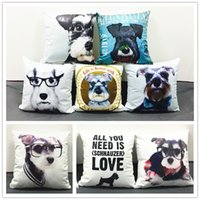 adult baby chair - 10 Styles Schnauzer Dachshund Wiener Dogs Cushions Pillows Covers Baby Boys Girls Favor Soft Pillow Case Sofa Chair Seat Cushion Cover