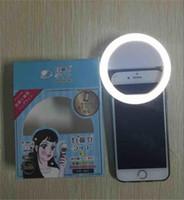 Luz de clipie del selfie del proyector del auto-contador de tiempo de la cámara del teléfono celular del círculo de la lámpara de la luz del anillo del selfie del USB LED para el iphone 6 7 más el ipad de la PC s7 s8