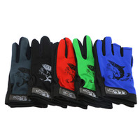Wholesale Fishing Gloves Pair Anti Slip Cut Finger Gloves Outdoor Sports Gloves for Fishing Colors Luvas Surfcasting