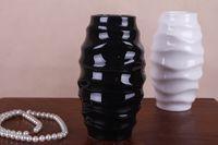 japanese ceramics - 1PC only black color Living room wedding Zakka Japanese ceramic thread small flower vase simplicity J1161