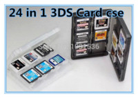 Negro 24 en 1 Game Memory Card Holder Carry caja cubierta de la caja para Nintendo 3DS L / 3dsll / 3DSXL