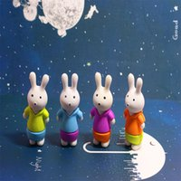 Wholesale 2016 New Cute Cartoon Erasers three dimensional Rabbit Bunny Can Stand Rubber Eraser Lovely Kids Gift Novelty Stationery