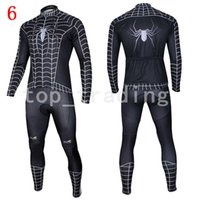 arrow bikes - 2015 Superhero Spiderman Green Arrow Captain Superman long Sleeve Bike Cycling Jersey Pants Set