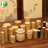 bamboo containers - Bamboo Tea Canister Kitchen Storage Bottles Eco Friendly Boxes of Storage Container Chinese Handmade Small Spice Storage Jars