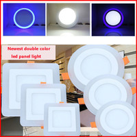 bathroom ceiling color - Double color home kitchen ceiling lamp w w w w panel lights recessed white blue modern led ceiling lights for living room