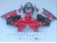 bicycle fairings - Hot ZX r fairing kit kawasaki ninja ZX6R red and black sports bicycle