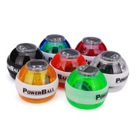 Wholesale Fitness Body Building Odometer Booster Power LED Wrist Ball Grip Round Ball Arm Exerciser Speed Meter Colors