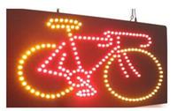 Vente directe personnalisée conduit néon signe ouvert 10 * 19 pouces intérieur Ultra Bright vélo vélo vélo business store néon signalisation lumineuse