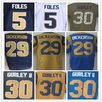 Wholesale 30 Todd Gurley Nick Foles Jared Goff dickerson donald Elite jersey size small S xl