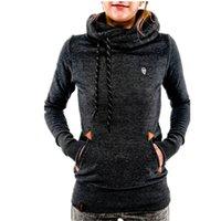 Wholesale Winter Colors Women Casual Ski Hoodies Warm Fleece Sweatshirt Fashion Streetwear Coats Autumn Sportswear For Ladies Hoodeds Sweatshirts