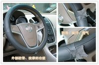 Wholesale High Quality Hot Selling First Layer Cowhide Leather Steering Wheel Covers Universal cm Anti skitting