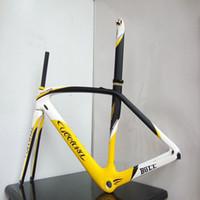 Wholesale T800 Carbon Fiber Road Bicycles Frames Seat Post Fork Frame Headset Brake Wind Bike cm cm