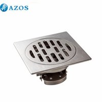 Wholesale AZOS Stainless Steel Toilet Floor Drain Strainer Grates Waste Bathroom Shower Part Ground Overflow Fitting PJDL006