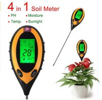 Wholesale Professional In1 LCD PH Meters Digital Temperature Sunlight Moisture PH Garden Soil Tester Gauge Meter