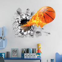 Wholesale Brand New PVC art prints removable basketball home murals environmental waterproof kids beds living room decoration poster drop shipping