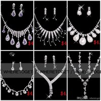 big necklace stainless steel - Styles Necklace Earrings Rhinestone Big Crystal Bridal Accessories Bridesmaid Lady Women s Prom Party Wedding Jewelry Sets