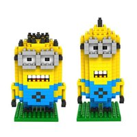 Wholesale Despicable Me Diamond Building Blocks Set Types LOZ Minions Action Figures Toys Education Toys Gift for Children Kids
