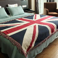 bay towels - Cotton carpet thin blanket quot British flag quot bay window sofa towel blanket bed cover living room bedroom Felts tapestry X180 CM