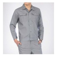 Wholesale Work Uniform Clothes Suit Overalls Welding Engineering Superior Fabric Five Size Grey Color Long Sleeve Safety Protective Overalls