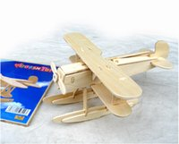 Wholesale Manufacturers selling children s educational wooden toy airplane interactive puzzle suit
