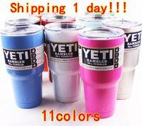 beer blue - YETI Mugs oz Cups Pink Blue Stainless Steel Yeti Rambler Tumbler Travel Vehicle Beer Mug Tumblerful Bilayer Vacuum Insulated