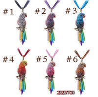african gray parrots - 2016 Hot Selling Long Jewelry Sweater Necklace Bird Pendant Exquisite Colourful Parrot Pendants Necklaces For Women