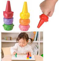 animal finger crayons - 3D Animal Carton Finger Crayon Education Toys for Toddler Baby Kids Washable Safe Nontoxic Food Grade Material Color