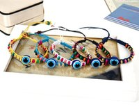 bad luck gifts - New Style DIY Hand woven color Turkey eye of the demons to ward off bad luck bracelet with blue eyes Friendship bracelet for women