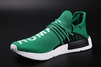Wholesale Cheap NMD HumanRace human race black men and women running shoes sports shoes With Box Receipt Laces